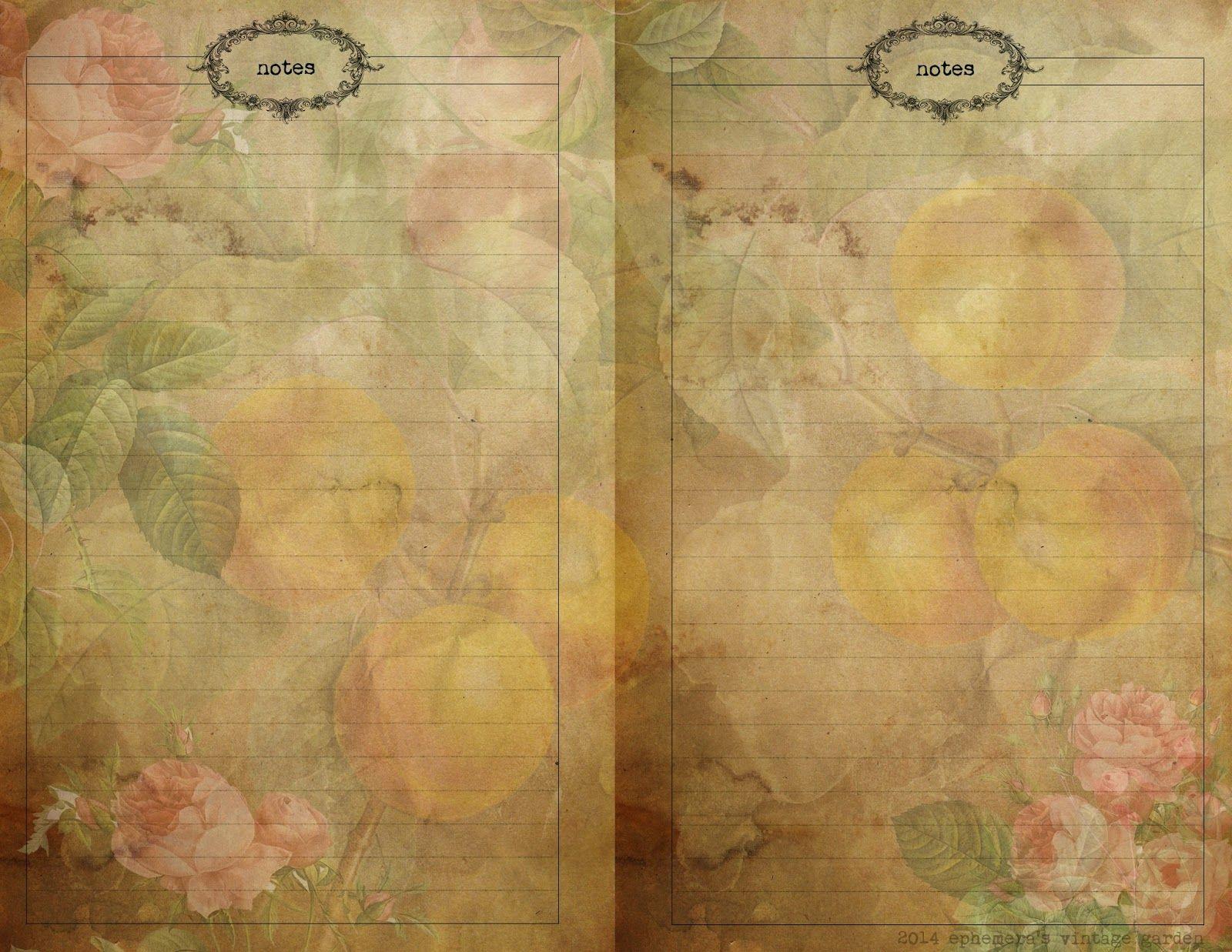 Ephemera\'s Vintage Garden: Free Printable - Vintage Planner Pages ...