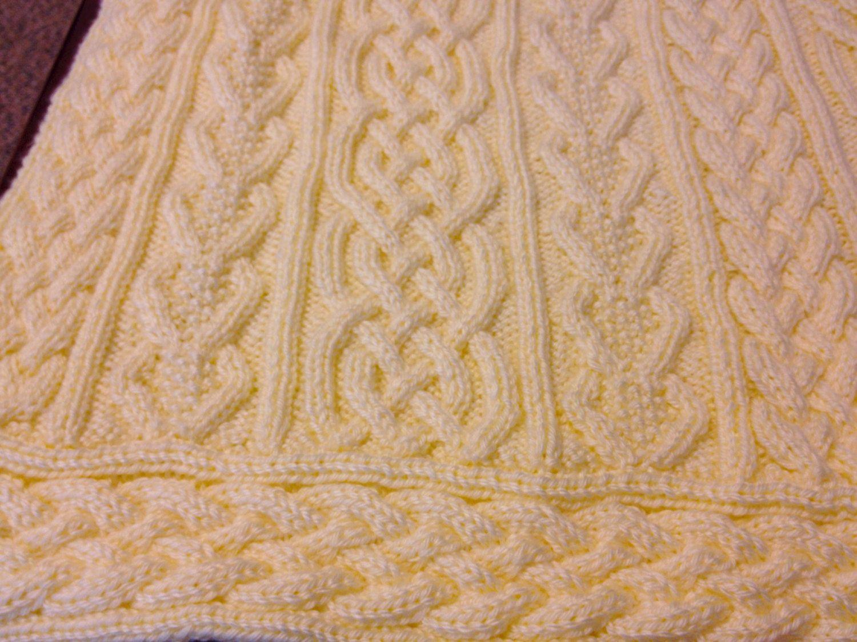 Knitting Pattern: Twisty Celtic Aran Afghan Fisherman ...