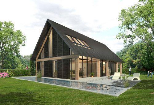 Huis Donker Hout : Combi hout en donker materiaal mooi design vergelijkbare woning