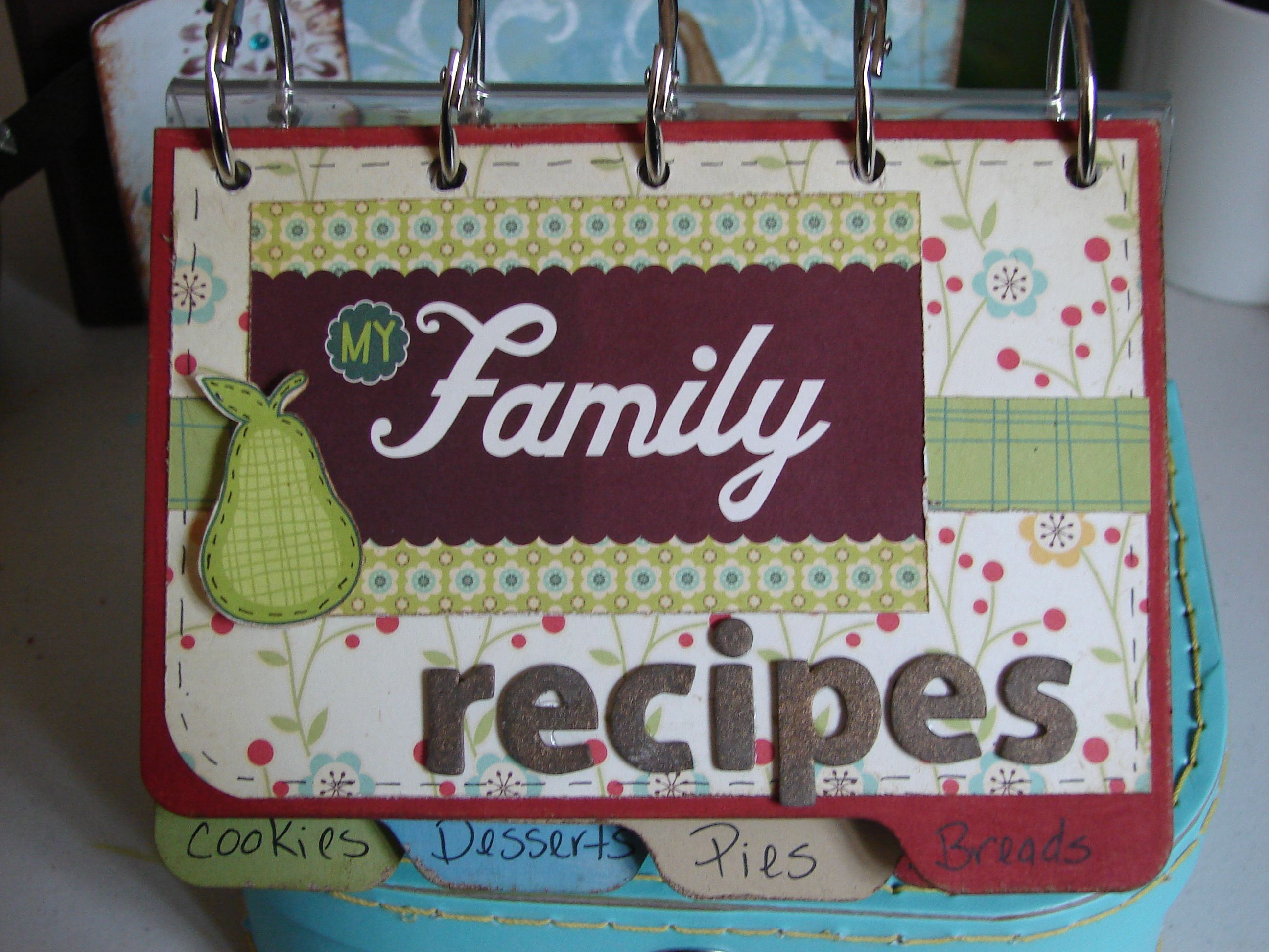 Other Cosmo Cricket Early Bird Family Recipe Book Family Recipe Book Recipe Book Diy Recipe Book