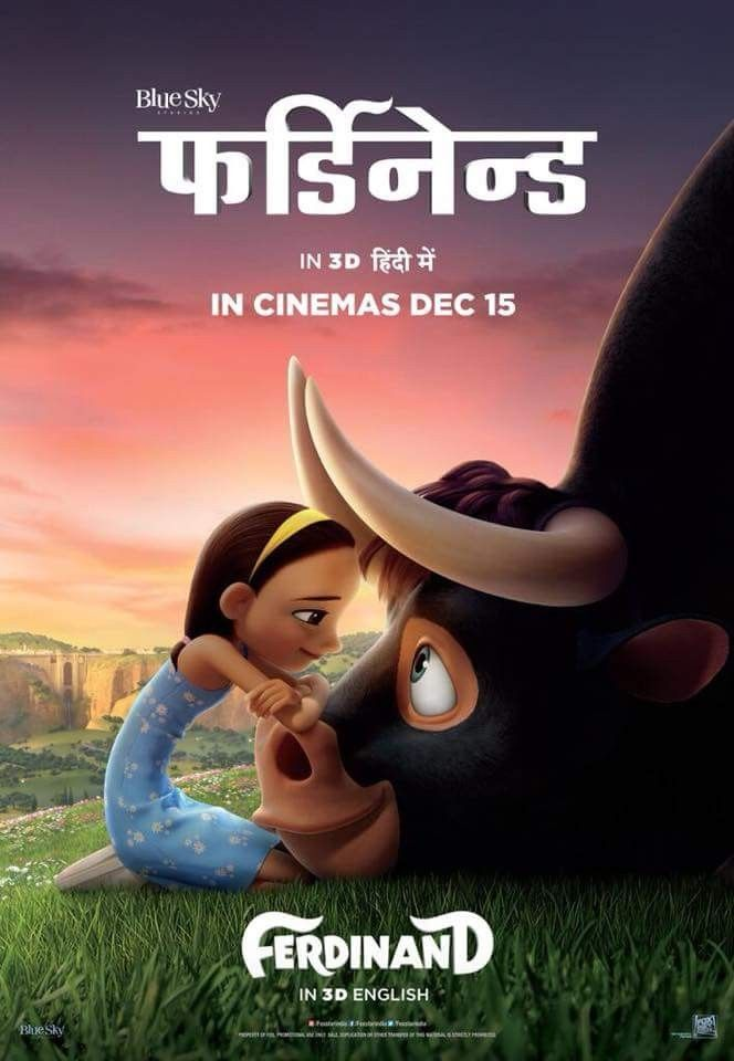 Ferdinand Official Hindi Poster Hollywood Hindi Posters In 2019