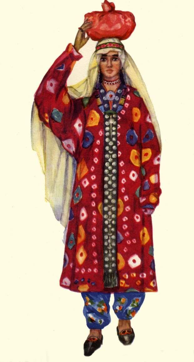 картинки национального костюма таджикистана снятия прикипевшей трещётки