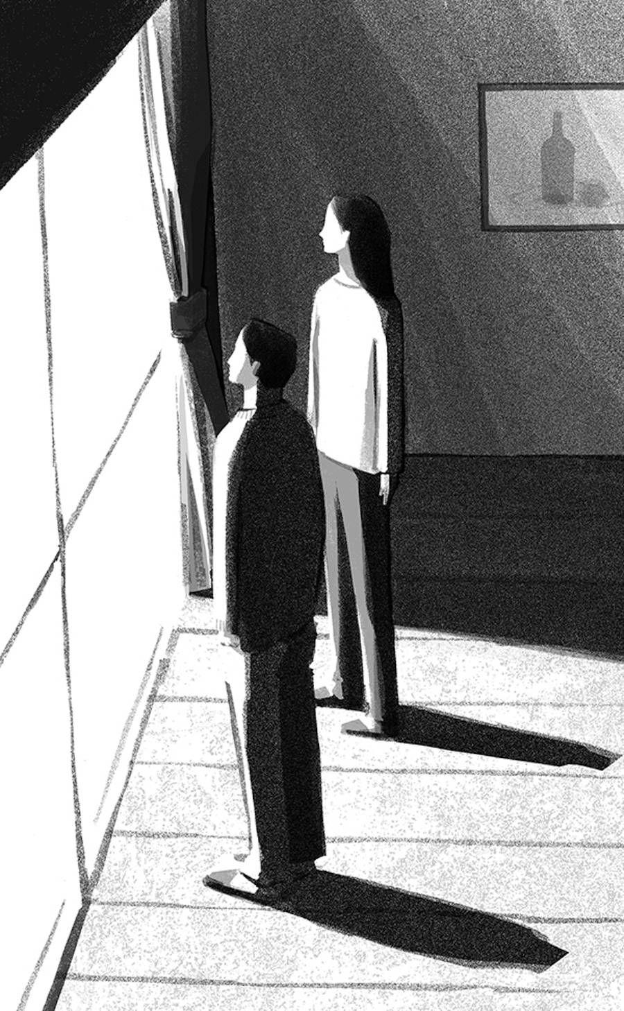 Daily Life Monochrome Illustrations by Mihoko Takata – Fubiz Media