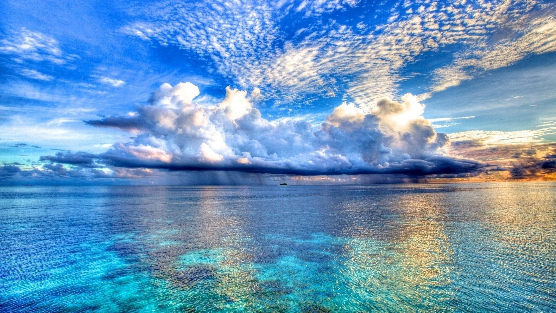 Nature Blue Sea And Clouds Backgrounds Wallpapers Hd Beautiful Nature Scenery Beautiful World