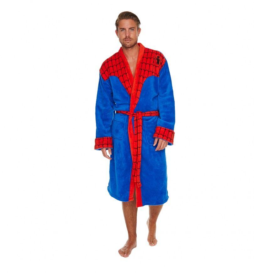 MEN/'S OFFICIAL MARVEL SPIDERMAN DRESSING GOWN BRAND NEW GREAT GIFT BATHROBE