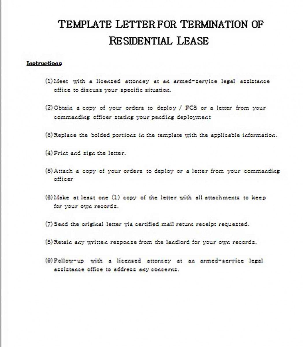 49+ Breaking lease letter example ideas