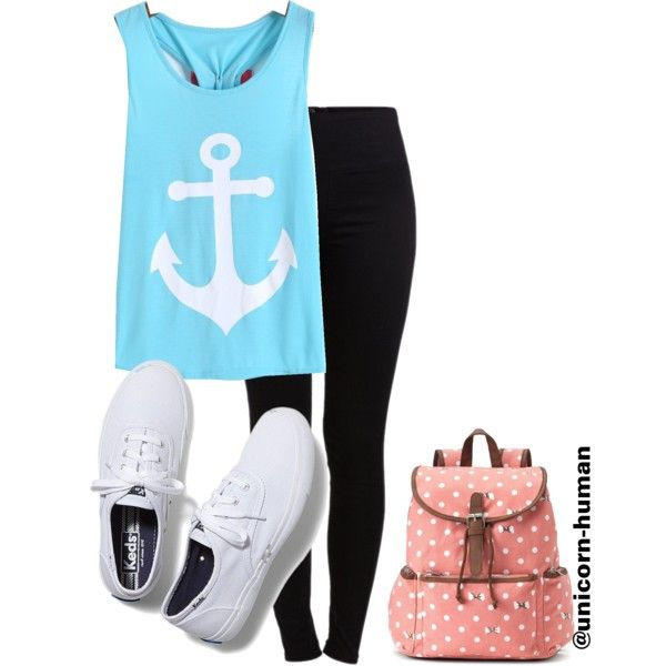 Untitled #656 by unicorn-human on Polyvore featuring polyvore fashion style Pieces Keds Candie's
