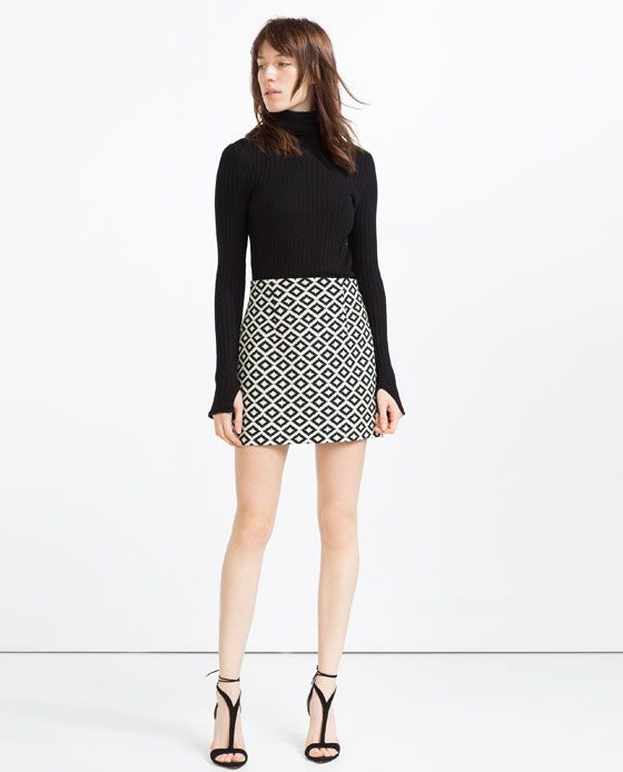 9492d625b0eb Image 1 of JACQUARD MINI SKIRT from Zara | Skirts | Mini skirts ...