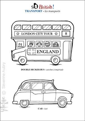 Transport School Apprendre Langlais Bus Anglais Et