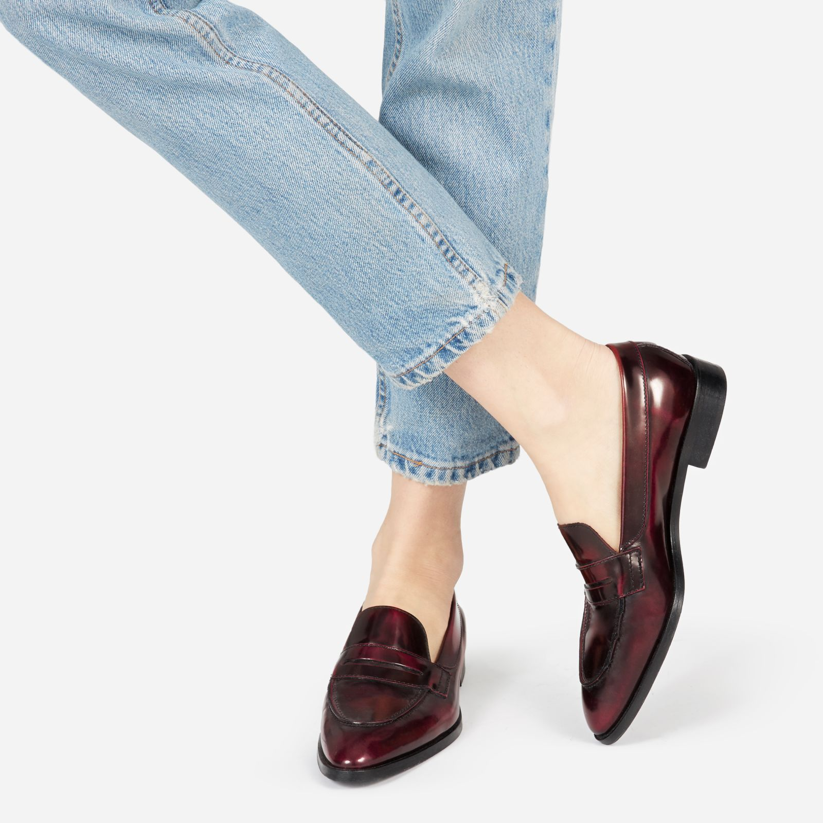 aa8f4d880c9db9 Women's Penny Loafers by Everlane in Oxblood | Products in 2019 ...