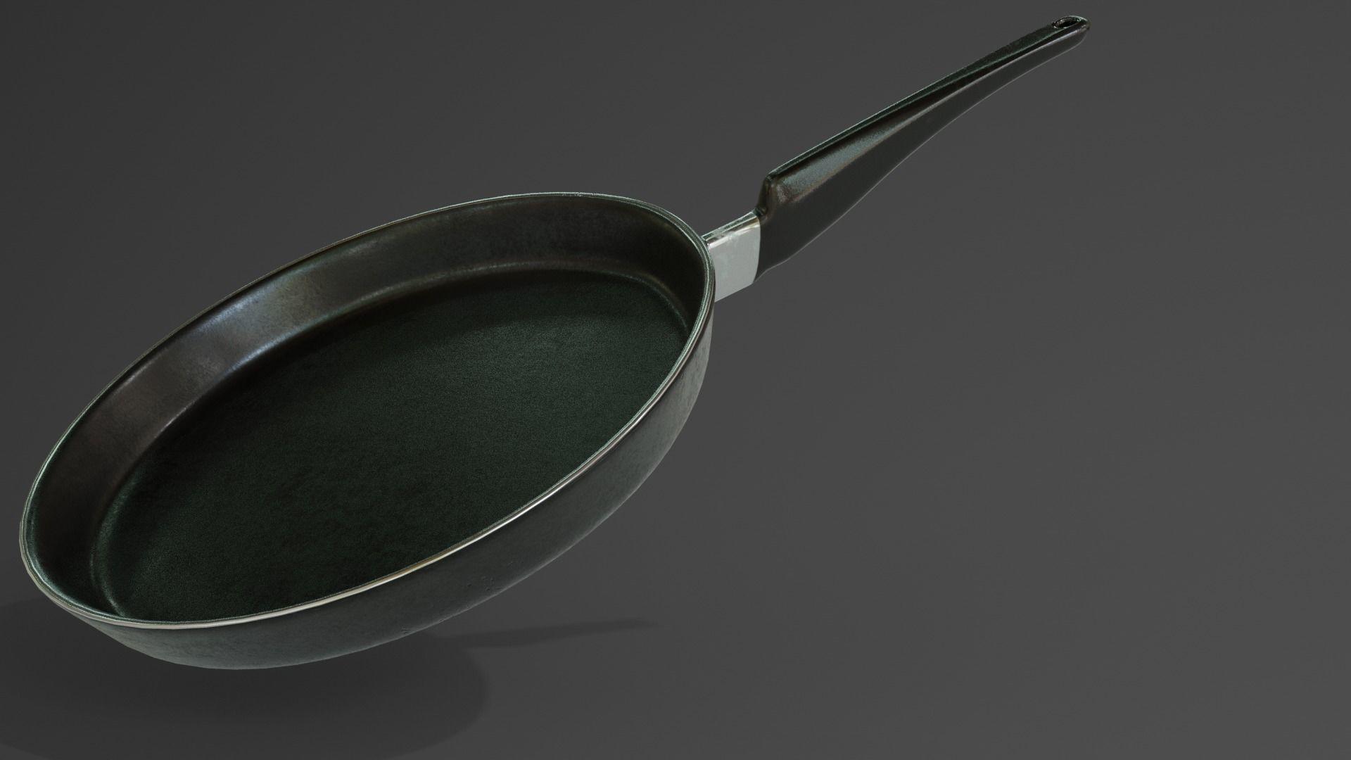 Frying Pan 3d Model 3d Model Kitchen Interior Modern Kitchen Interiors