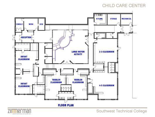Daycare Floor Plans Child Care Daycare Room Design Daycare