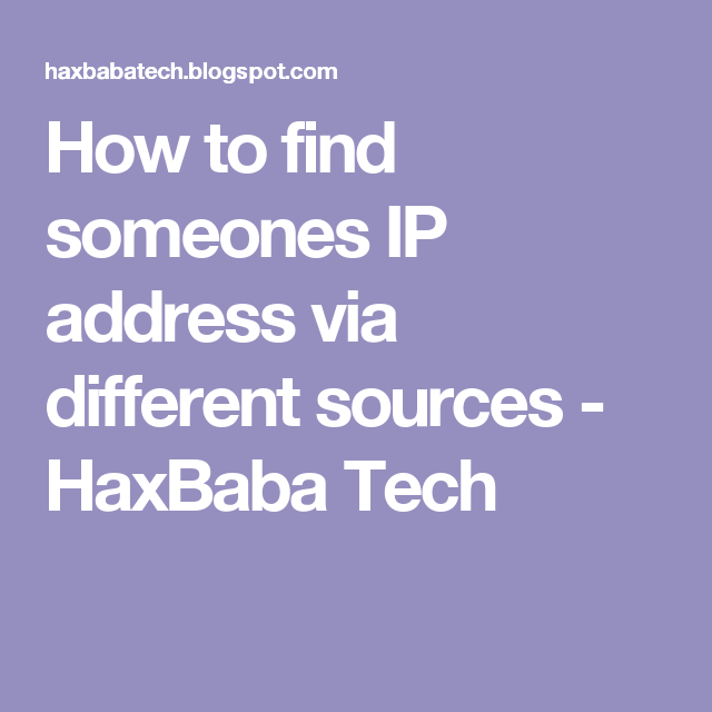 How To Get Someones Ip Address