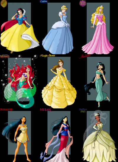Love This One In The Order That They Appeared Disney Princess