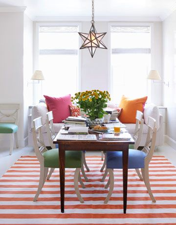 make an old kitchen new again colorful dining roomsgreen - Colorful Dining Room Tables