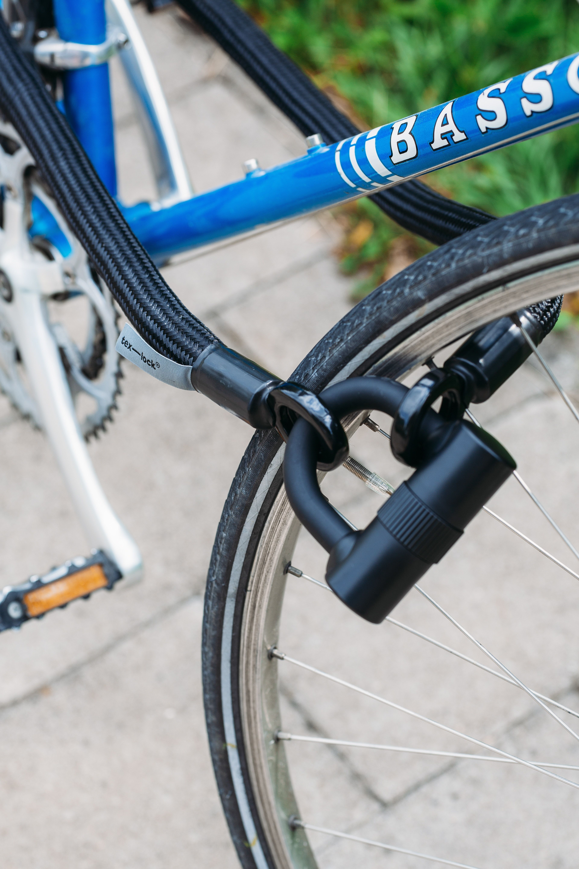 Diy U Lock Holder Recycled Belt Content