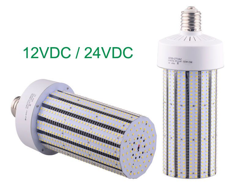 120w Dc 12v Dc 24v Led Corn Light Bulbs Equivalent 350w Hid Mh Hps Lamps Led Light Bulb Led Lighting Solutions Led Commercial Lighting