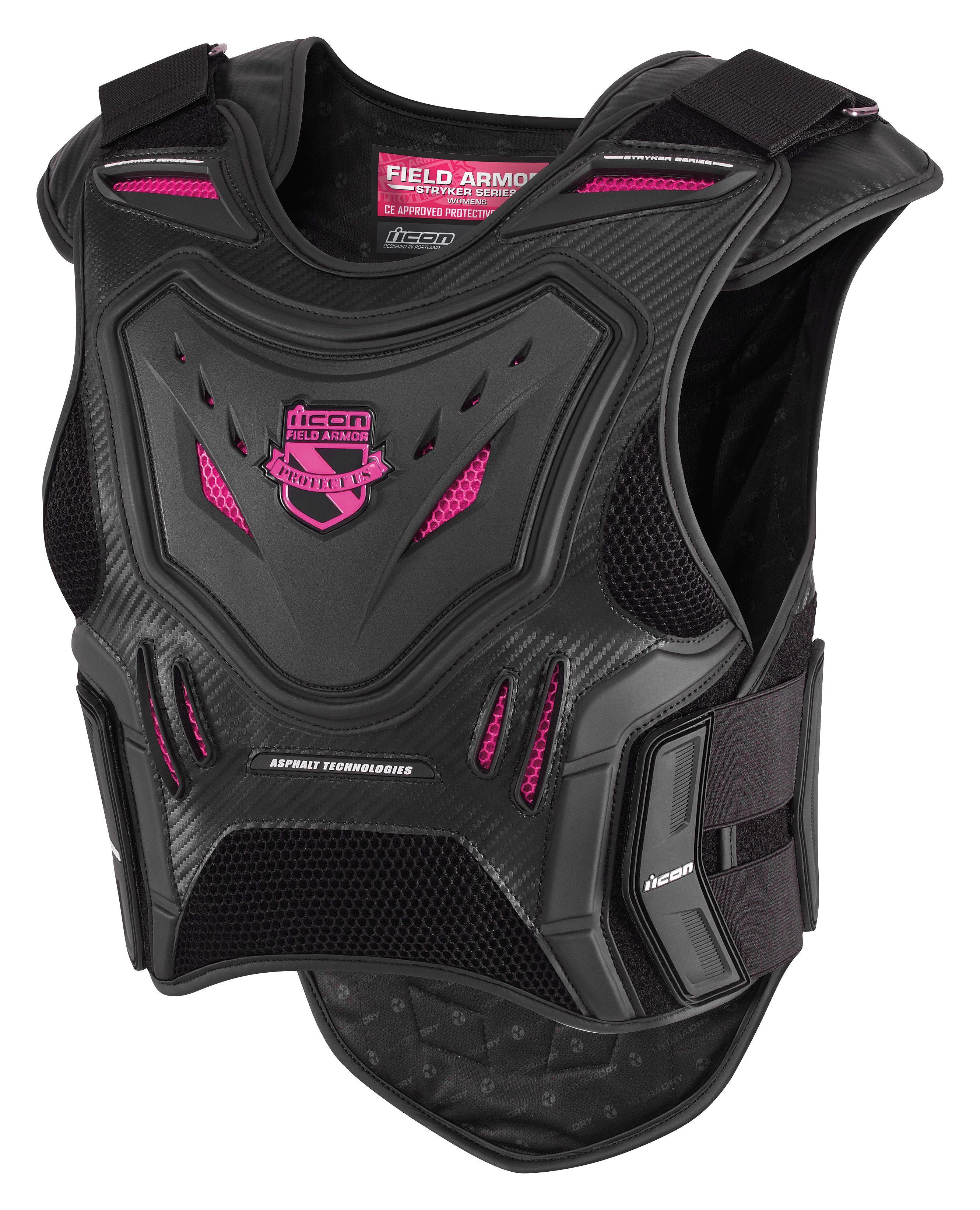 Icon Stryker Women's Vest Body armor, Motorcycle vest, Bike