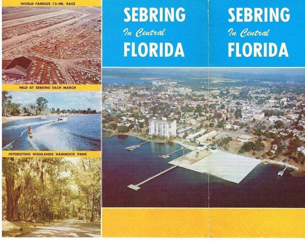 Vintage Florida Travel Brochure Central Florida Sebring Color