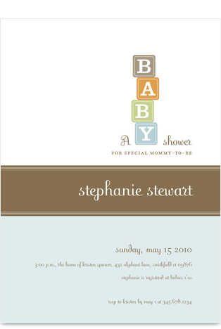 baby invitation