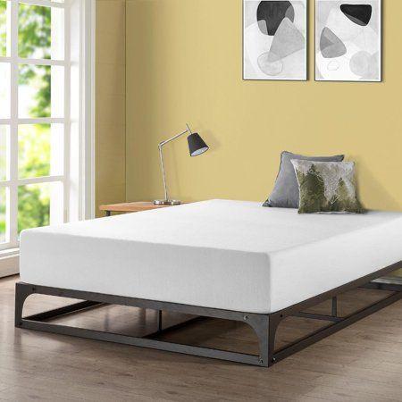 Home Bed Frame Foam Mattress Metal Beds