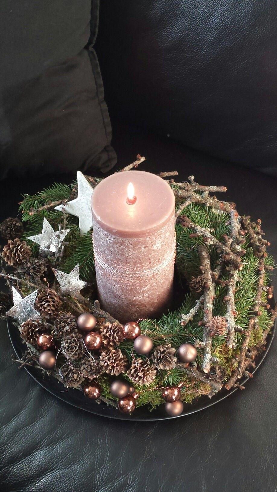 Adventskranz - ♥ wiederverbarer Adventskranz mit LED-Lichterkette - ein Designerstück von Sternenglanz-Clemens bei DaWanda #adventskranzideen - womensday #candles