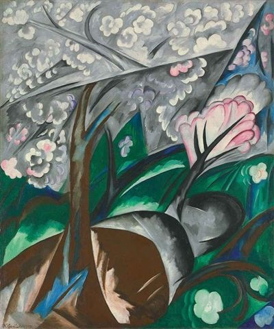 Natalia Goncharova, Les arbres en fleurs (Pommiers en fleurs) on ArtStack #natalia-goncharova-natal-ia-sierghieievna-goncharova #art