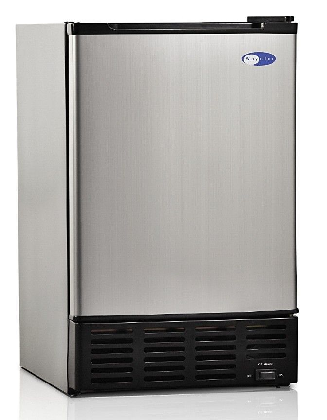 15 12 Lb Daily Production Built In Ice Maker Outdoor Kitchen Design Appliances Stainless Steel Doors