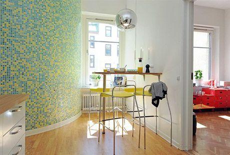 Bright & Modest In Göteborg  Flats  Pinterest  Island Kitchen Gorgeous Kitchen Design For Flats Inspiration