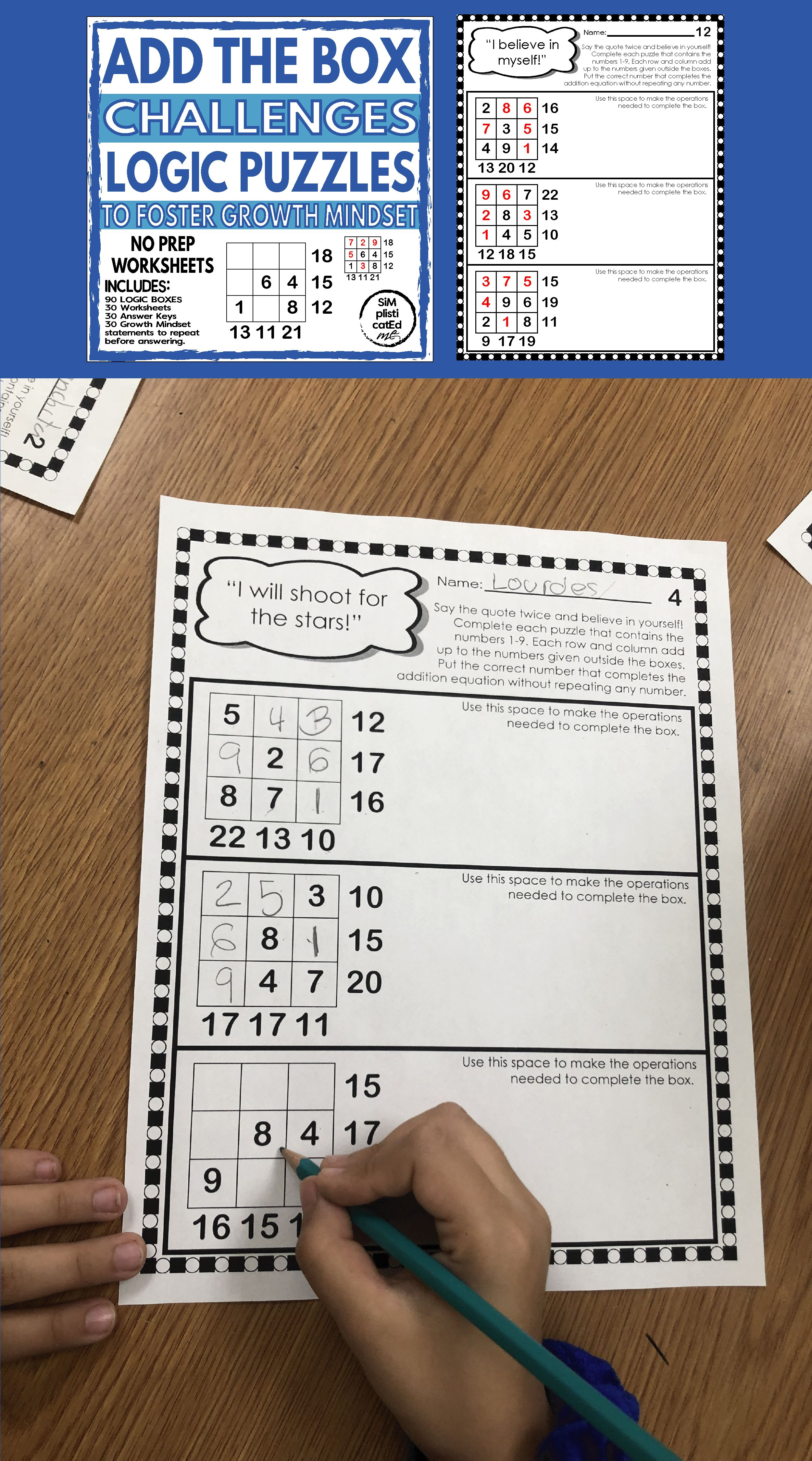 Math Logic Addition Puzzle Box Challenges To Foster Growth