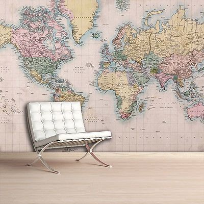 Old world map printed photo wall mural removable wallpaper home old world map printed photo wall mural removable wallpaper home decor gumiabroncs Image collections