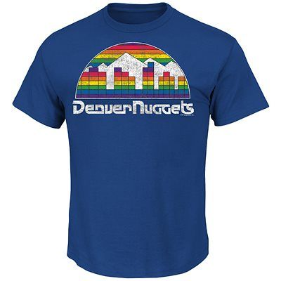 The Post Up is our classic short sleeve crew neck tee. Made of 100% cotton, this tee is available in Deep Royal to show your Denver Nuggets pride....