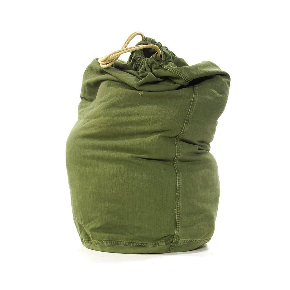 70s Huge Cotton Duffel Bag Vintage 1970s Large Army Green
