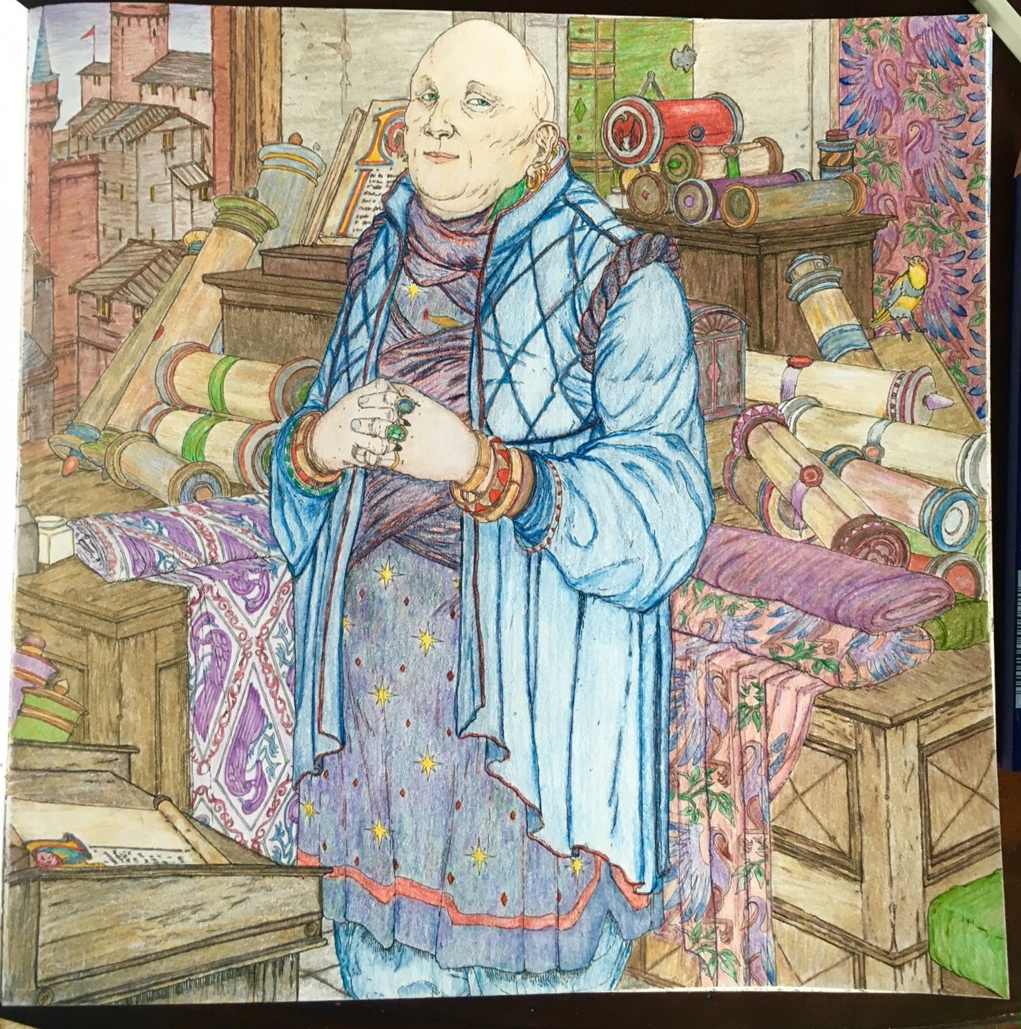 Just Finished Varys From The Game Of Thrones Coloring Book Using Caran DAche Pablo And Prismacolor Verithin Pencils My First Time Skin