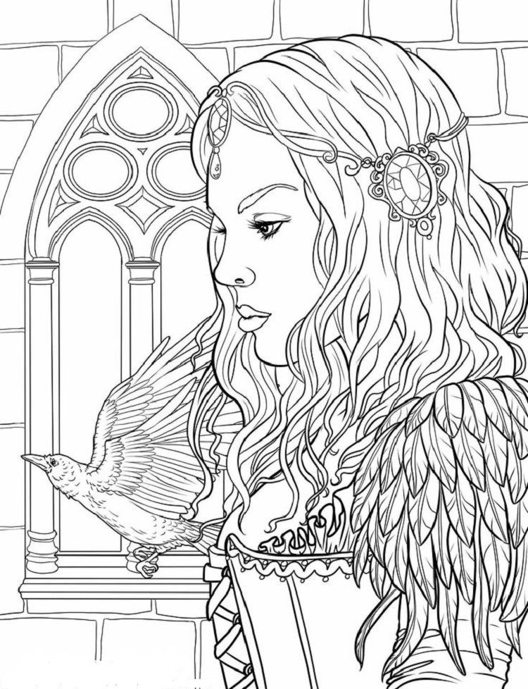 People Coloring Pages For Adults Coloring Pages People Coloring Pages Fairy Coloring Pages