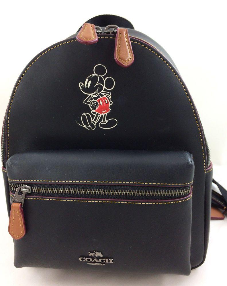 c90e3afa63b New Coach F59837 Mini Charlie Leather Backpack Shoulder Bag Mickey with  Disney   Clothing, Shoes   Accessories, Women s Handbags   Bags, Handbags    Purses ...