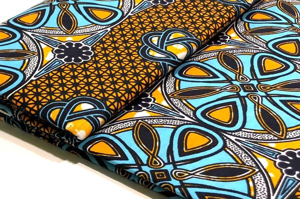 Afrikanischer Wax Print Stoff Ethnostoff Waxprint Stoff Nahen