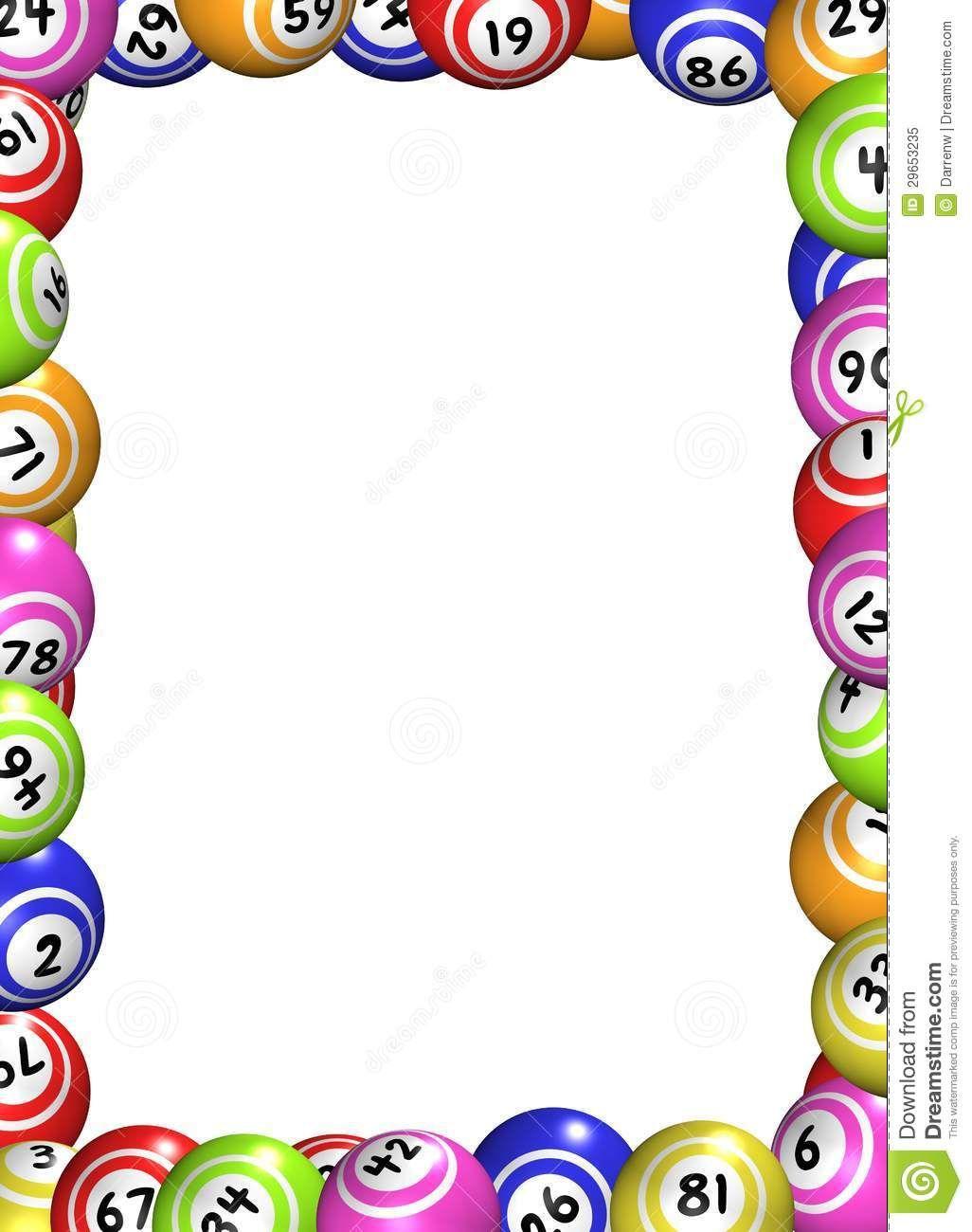 Marco De Las Bolas Del Bingo Foto De Archivo Libre De