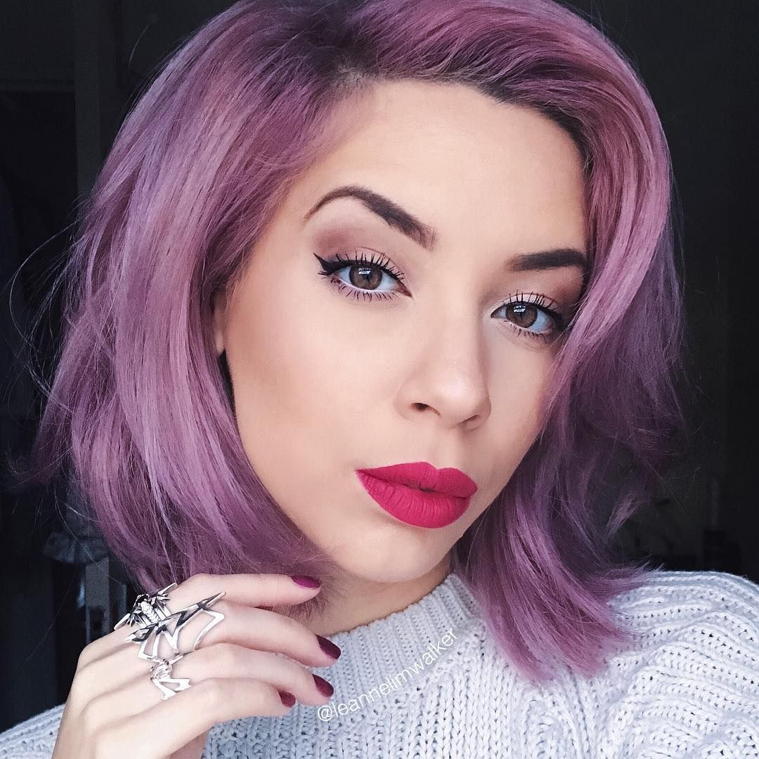purple newest hairstyles for women | Famous Hairstyles | Pinterest ...