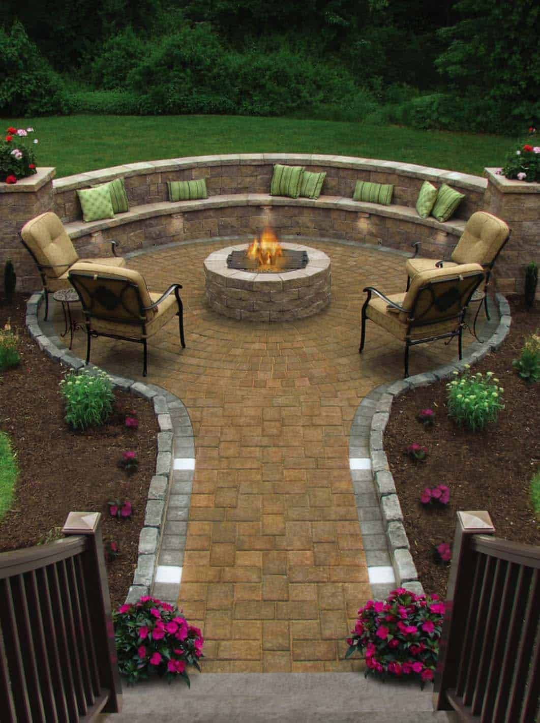 28 Inspiring Fire Pit Ideas To Create A Fabulous Backyard Oasis #backyardoasis