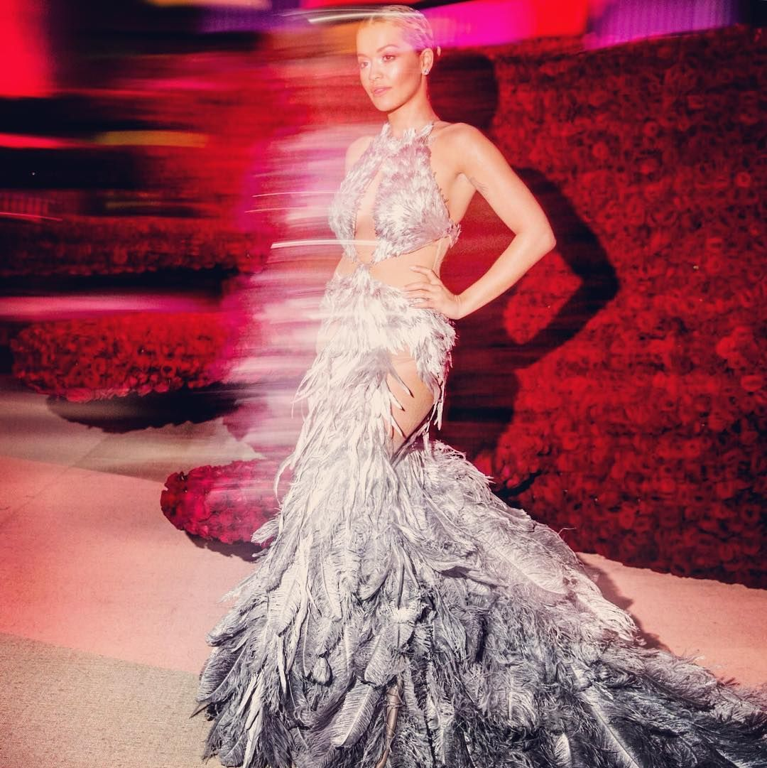 Rita Ora in Vera Wang at the 2016 Met Gala:  @backstageat  See more @voguemagazine:   http://www.vogue.com/slideshow/13432042/inside-2016-met-gala-party-photos-cocktails-dinner-performance/