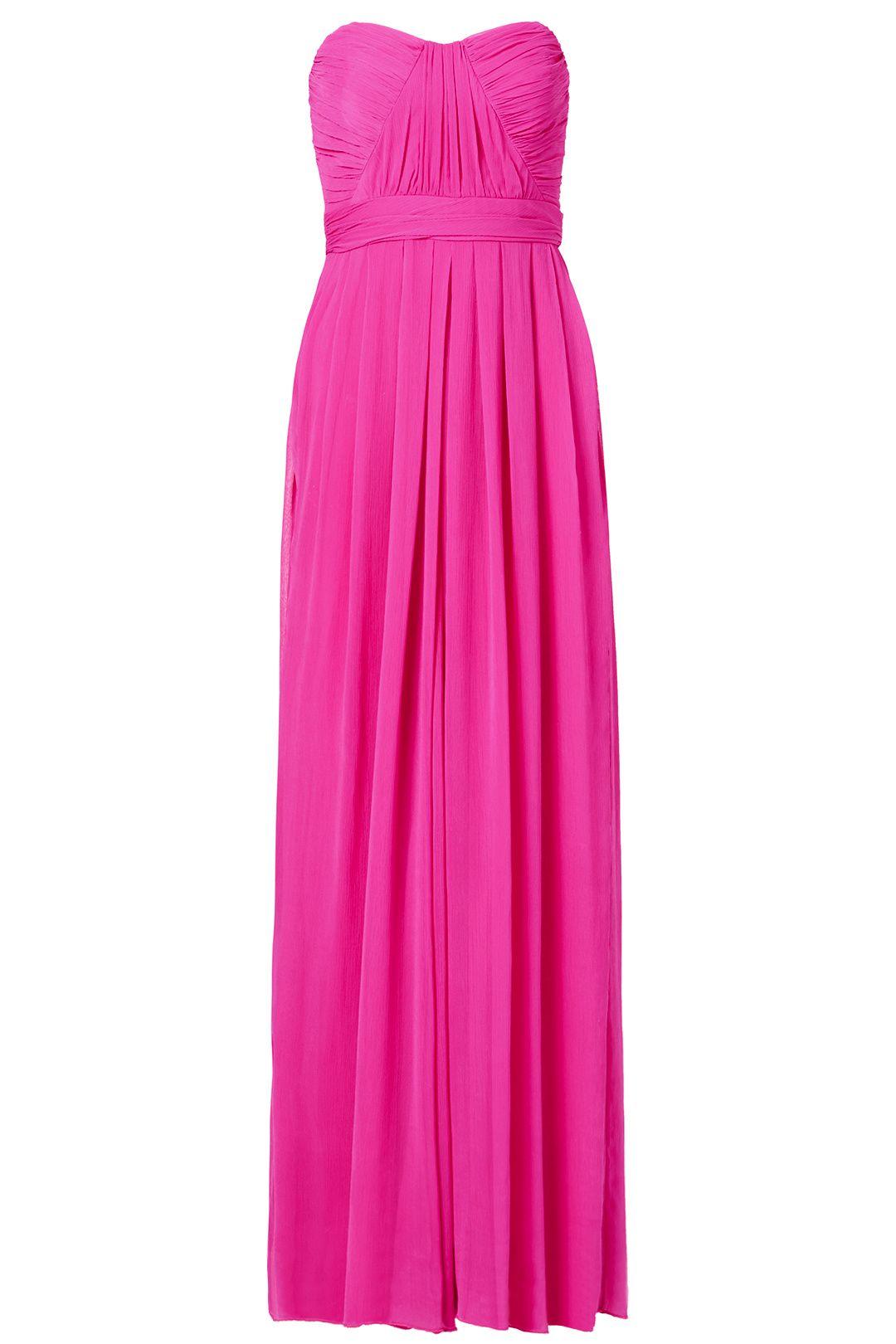 Fluorescent Chiffon Gown by Badgley Mischka. $80. RenttheRunway | A ...