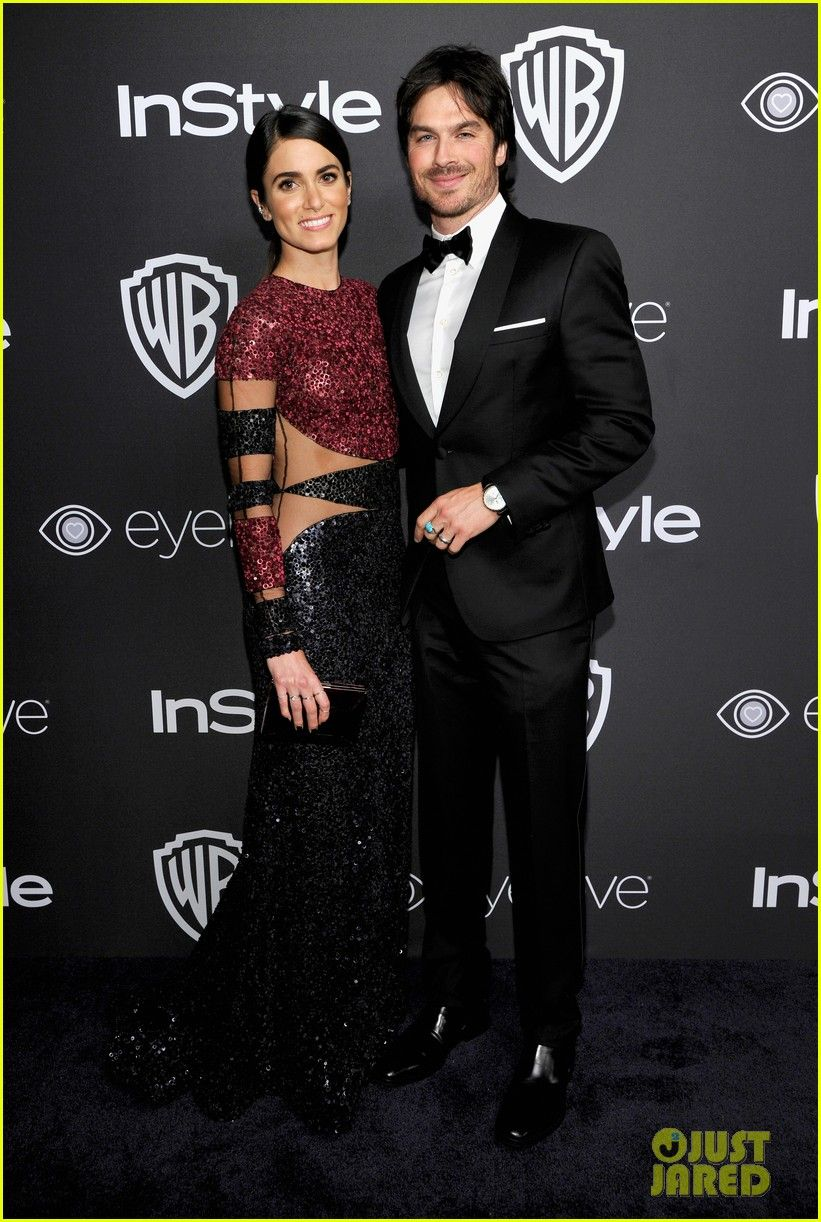 Nikki Reed en robe Naeem Khan - Golden Globes 2017