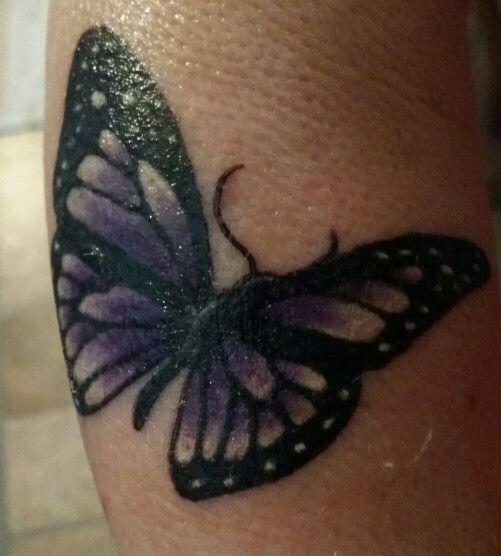 My Purple butterfly tattoo! :) ♡