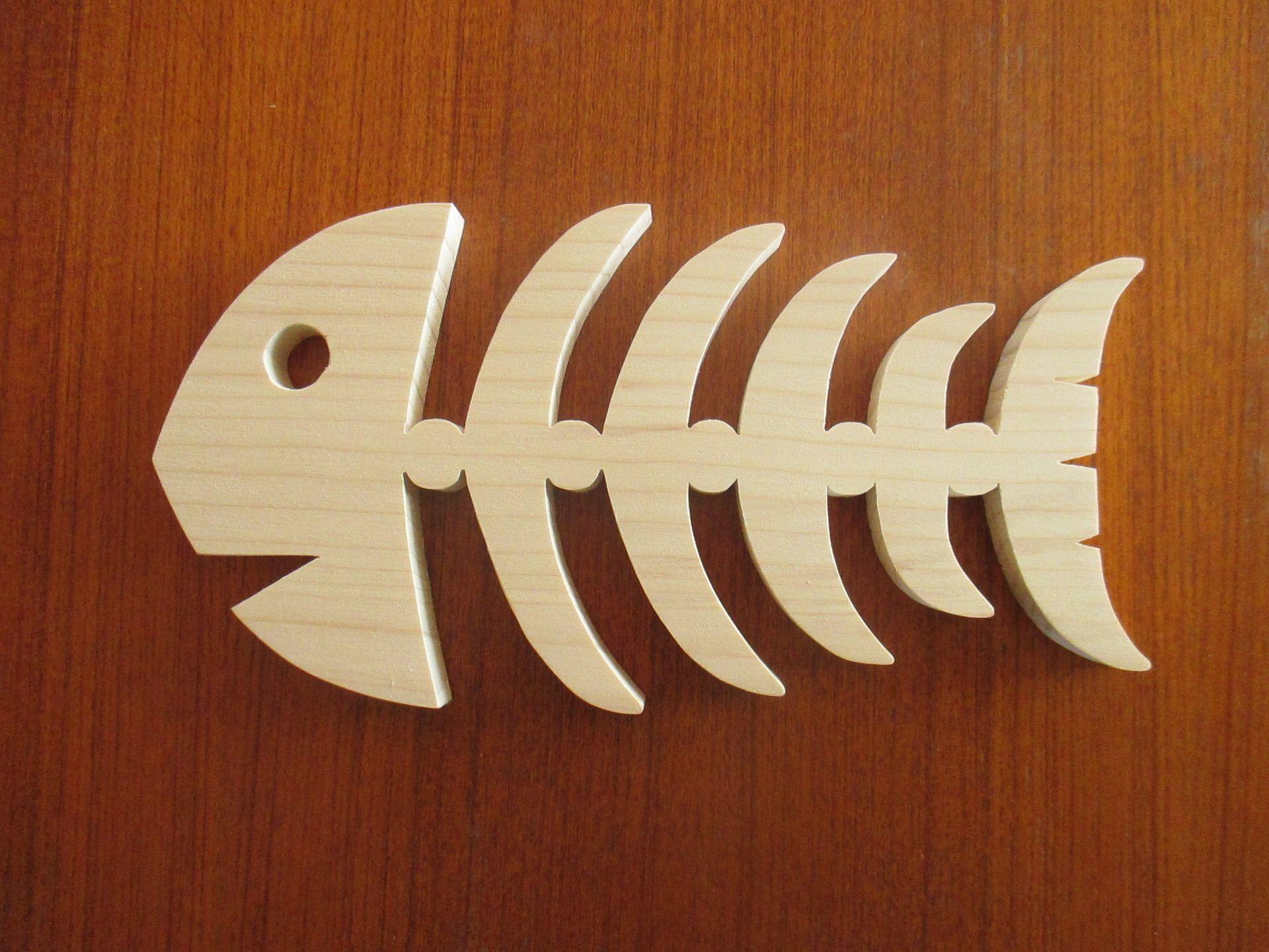 Poisson ar te de poisson dessous de plat d coration en bois d 39 pic a naturel accessoires de - Modele poisson ...