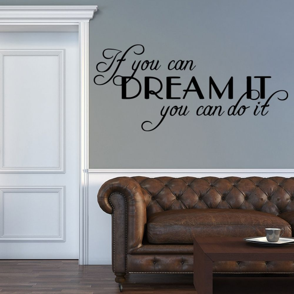 motivating sentence quote decal wall sticker for bedroom on wall stickers for living room id=14688