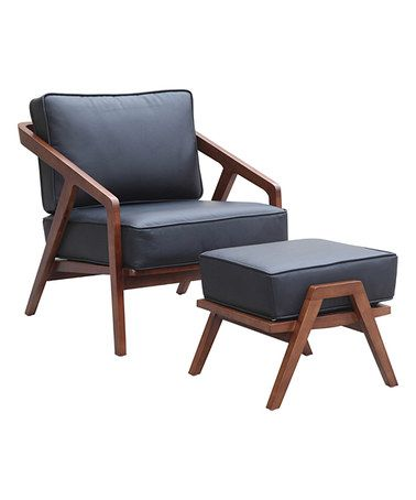 Gray Inspot Leather Lounge Chair & Ottoman #zulily #zulilyfinds