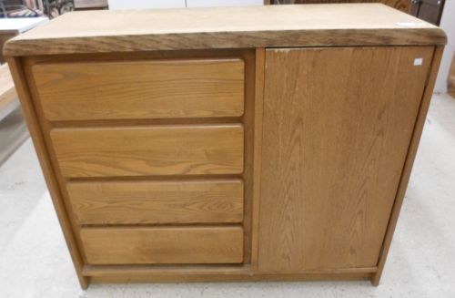 """Cabinet for sale at the ReStore. 45""""W 37 1/2""""H x 17""""D The ..."""