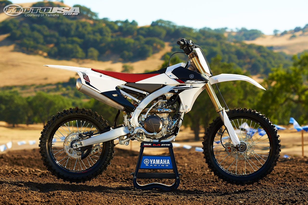 Yamaha has given it's big YZ450F thumper a major re-do for 2014, including  engine modifications and chassis upgrades.
