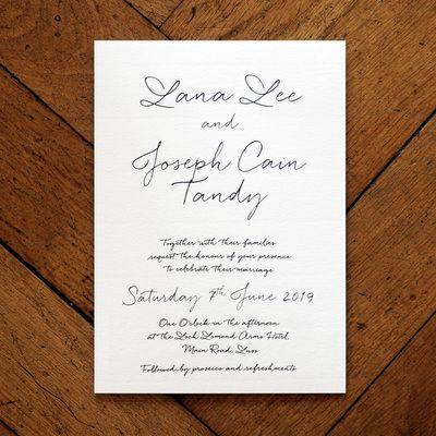 Love Letter Wedding Invitation - Feel Good Wedding Invitations JA - sample love letter